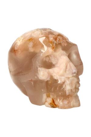 Kersenbloesem Agaat kristallen edelsteen schedel 7.8 cm 273 gram