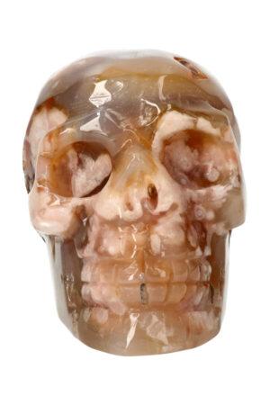 Kersenbloesem Agaat kristallen edelsteen schedel 12.5 cm 977 gram