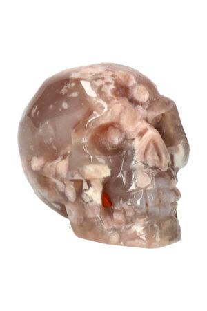 Kersenbloesem Agaat kristallen edelsteen schedel 8.8 cm 355 gram