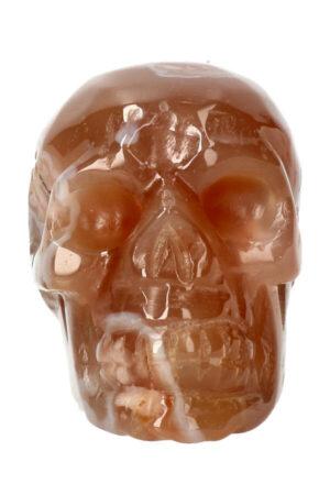 Kersenbloesem Agaat kristallen edelsteen schedel 8.6 cm 322 gram