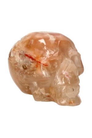 Kersenbloesem Agaat kristallen edelsteen schedel 8.4 cm 302 gram
