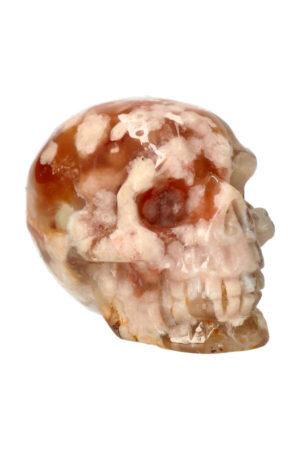 Kersenbloesem Agaat kristallen edelsteen schedel 8.7 cm 377 gram