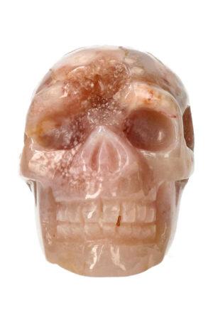 Kersenbloesem Agaat kristallen edelsteen schedel 9 cm 341 gram