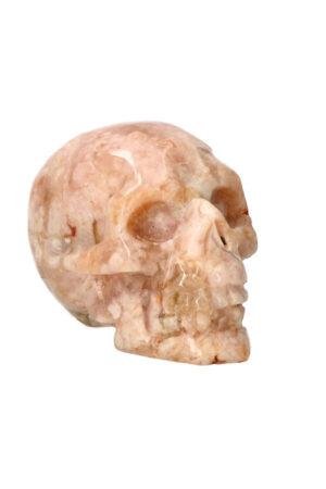 Kersenbloesem Agaat kristallen edelsteen schedel 8.8 cm 356 gram