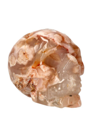 Kersenbloesem Agaat kristallen edelsteen schedel 9 cm 435 gram
