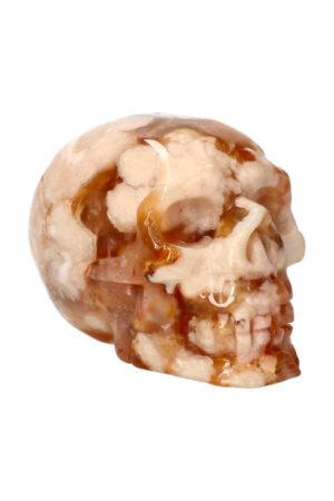 Kersenbloesem Agaat kristallen edelsteen schedel 9 cm 445 gram