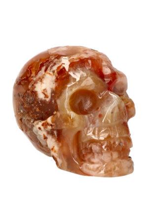 Kersenbloesem Agaat kristallen edelsteen schedel 9.7 cm 478 gram