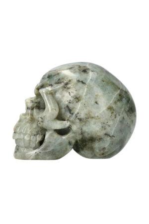 Labradoriet realistische kristallen schedel 10.5 cm 742 gram
