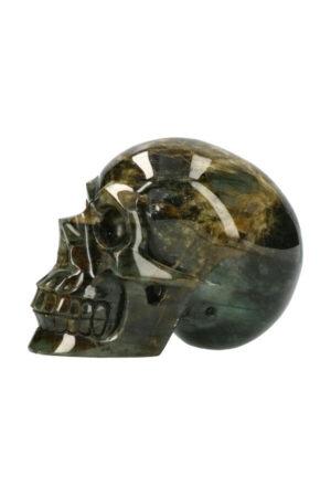 Labradoriet realistische kristallen schedel 13.5 cm 1.4 kg