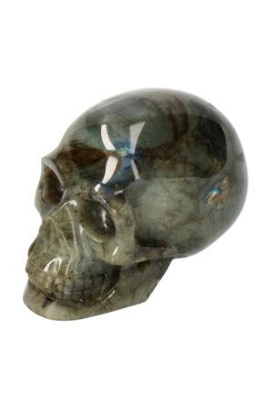 Labradoriet realistische kristallen schedel 9.5 cm 493 gram