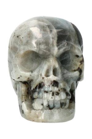Labradoriet realistische kristallen schedel 8 cm 319 gram