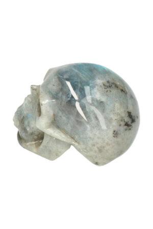 Labradoriet realistische kristallen schedel 7.5 cm 268 gram
