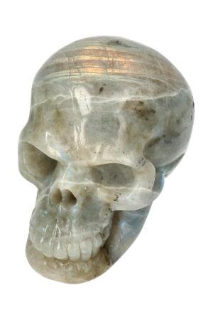 Labradoriet realistische kristallen schedel 7.5 cm 251 gram