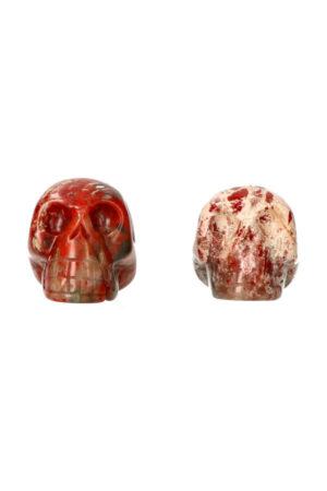 Rode Jaspis kristallen schedel 4 cm