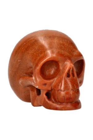 Versteend hout realistische kristallen schedel 8 cm 350 gram