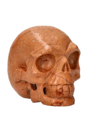 Versteend hout realistische kristallen schedel 8 cm 400 gram