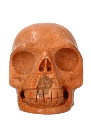 Versteend hout realistische kristallen schedel 8 cm 362 gram