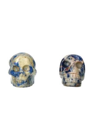 Sodaliet kristallen schedel 4 cm