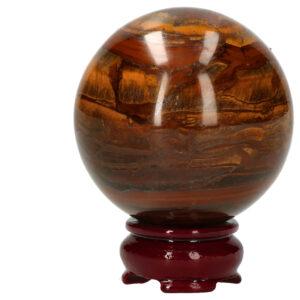 Bol Tijgeroog met Hematiet 7.8 cm 698 gram