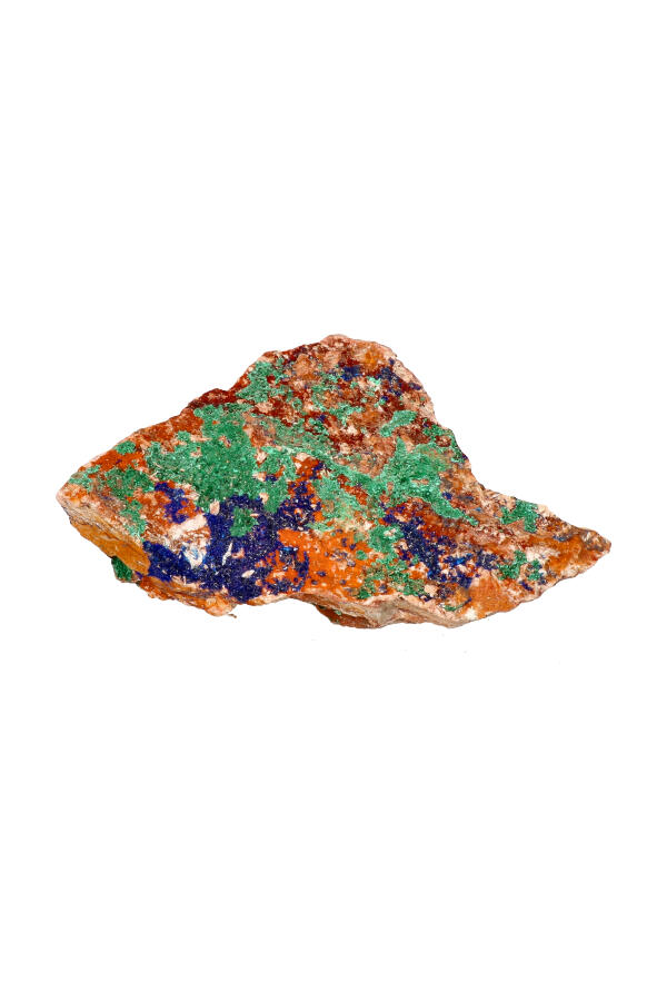 Azuriet met Malachiet ruw brok, A kwaliteit!  11.5 cm, 272 gram