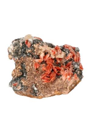 Cerussiet Bariet Magnetiet op Dolomiet 8.8 cm 414 gram