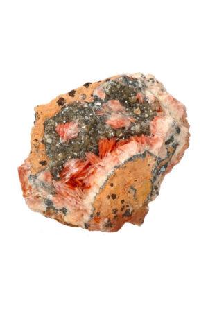 Cerussiet Bariet en Magnetiet op Dolomiet 10.2 cm 556 gram