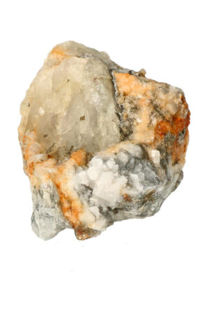 Fluoriet met bergkristal en Pyriet 12.8 cm 725 gram