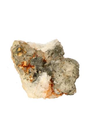 Fluoriet met bergkristal en Pyriet 9.9 cm 388 gram