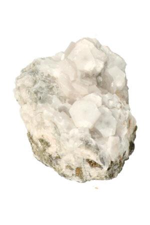 Fluoriet met bergkristal en Pyriet 10.3 cm 418 gram