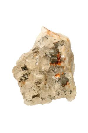 Fluoriet met bergkristal en Pyriet 8.8 cm 364 gram
