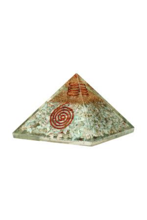 Larimar Orgoniet piramide, 7.5 cm