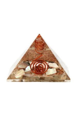 Parelmoer orgoniet piramide 7.2 cm