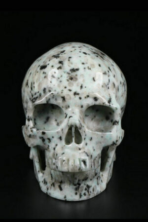 Kiwi Jaspis realistische kristallen schedel