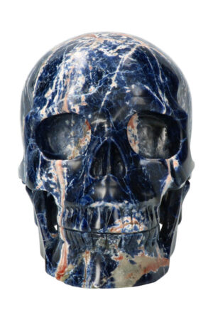 Sodaliet realistische kristallen schedel, 20 cm, 4.6 kg