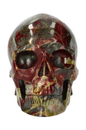 Drakenbloedsteen exclusieve realistische kristallen schedel, 12.5 cm, 1.4 kg