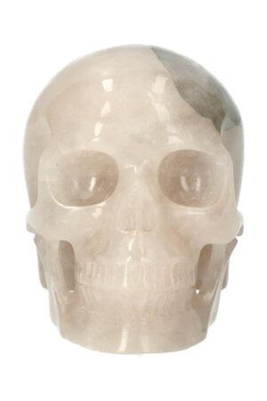 Toermalijnkwarts exclusieve realistische kristallen schedel, 10.5 cm, 644 gram
