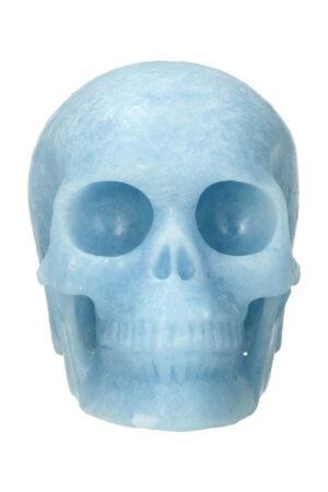 Blauwe Calciet exclusieve realistische kristallen schedel, 10.5 cm, 636 gram