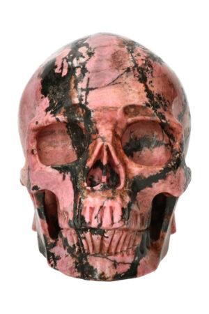 Rhodoniet exclusieve realistische kristallen schedel, 12.5 cm, 1.7 kg