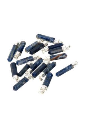 Sodaliet punthanger 3-4 cm verzilverd India