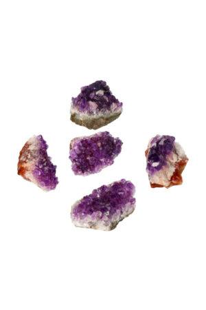 Amethist ruwe cluster AAA kwaliteit 30-60 gram circa 4.5-5.5 cm