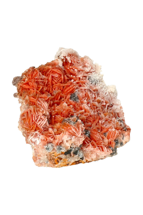 Cerussiet, Bariet en Magnetiet op Dolomiet, 8.9 cm, 327 gram