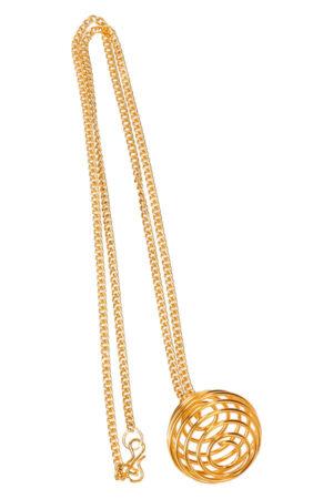 Kooihanger goudkleurig met ketting