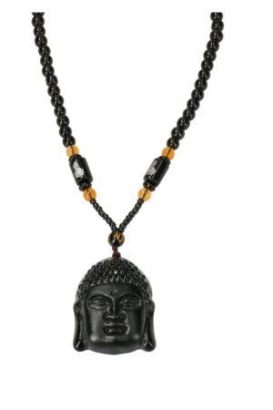 Boeddha Obsidiaan ketting 4.5 cm