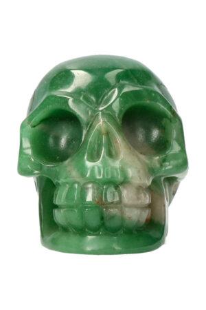 Aventurijn realistische kristallen schedel 10.8 cm 684 gram