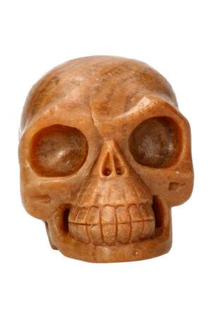 Calciet realistische kristallen schedel 13.1 cm 1.6 kg