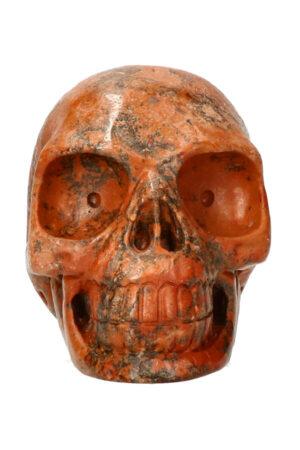 Dendriet realistische kristallen schedel 10.6 cm 643 gram