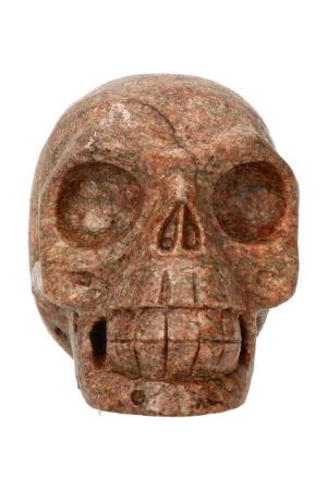 Graniet kristallen schedel 10.9 cm 817 gram