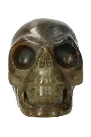Labradoriet realistische kristallen schedel 8.2 cm 338 gram