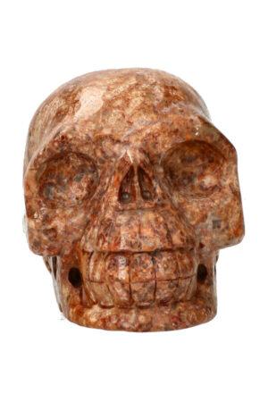 Oceaan Jaspis kristallen schedel 10.9 cm 815 gram