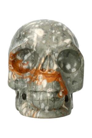 Picasso Jaspis realistische kristallen schedel 10.4 cm 851 gram